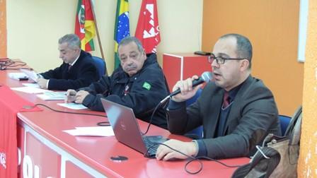 Assessor Jurídico Arthur Dias Filho, presidente Loreni Dias, e advogado Jorge Young