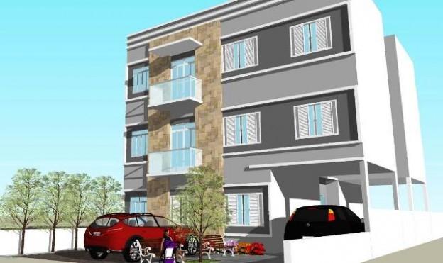 Ilustração dos prédios de apartamentos