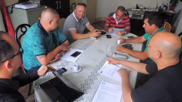 Reunião dos dirigentes dos sindicatos, no Sindivigilantes do Sul, segunda-feira