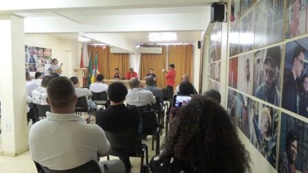 Foram realizadas assembleias em Porto Alegre, na foto, e São Jerônimo
