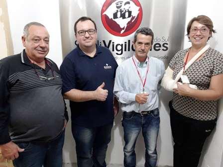 Presidente Dias, Rodrigo Casagrande, diretores Aguiar e Rosane
