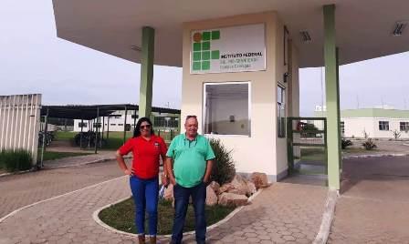 Presidente Dias e diretora Elisa, no IFSUL