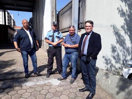 Presidente Dias, diretor Sílvio e o advogado Maurício Vieira foram ao GHC pedir o o bloqueio das faturas da Líder