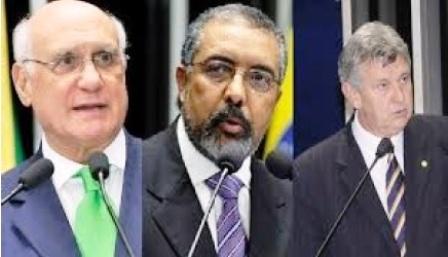 Senadores gaúchos Lasier, Paim e Heinze