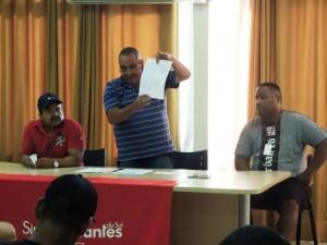 Presidente Loreni Dias, ao centro, com os diretores Adão Ferreira da Silva e Luiz Paulo Motta