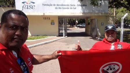 Motta e Adão na Fase, em Porto Alegre