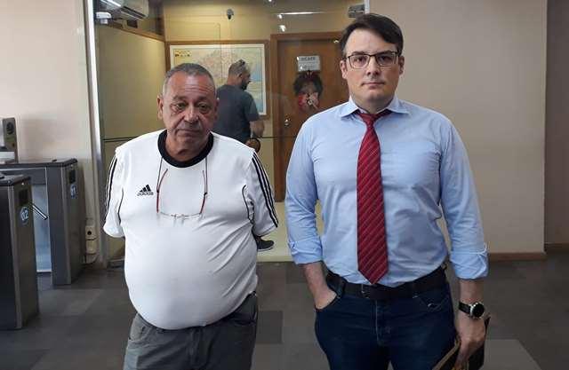 Presidente Dias e dr. Maurício, da assessoria jurídica, numa das vezes que foram ao CAFF interceder pelos vigilantes