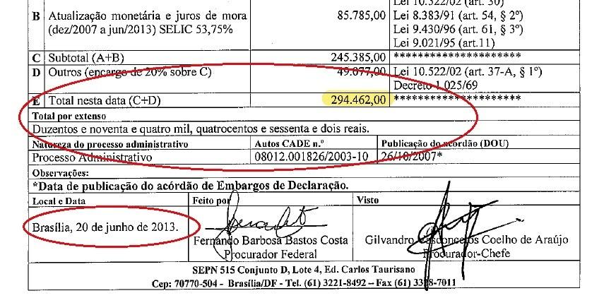 Dívida 294 mil - 1